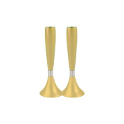 Gold Shabbat Candlestick made by Yair Emanuel