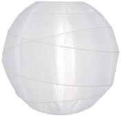 30cm Irregular Ribbed White Nylon Lantern
