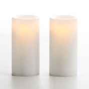 7.6cm Wax Votive Flameless Candle White Set Of 2