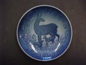 """Bing & Grondahl Mother's Day Plate """"Doe and Fawns"""" 1975"""