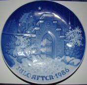 "1986 Christmas Plate -- Bing and Grondahl -- ""Silent Night, Holy Night"""