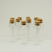 Firefly Imports Mini Glass Tube Corked Jars Candy Bottle, 6.4cm , Clear, 12-Pack