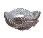 Areaware Knotted Rope Bowl, Chrome