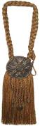 India House 76727 Tieback Medallion Tassel, 23cm , Earthtone Mix