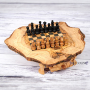 Olive Wood Rustic Chess Se,t Handmade Chess Board Set, Chess Set Game, Handcrafted Chess Game, Wooden Natural Rustic Chess Board