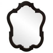 Howard Elliott 92001 Asbury Oval Mirror, 80cm by 110cm , Glossy Black