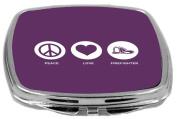 Rikki Knight Peace Love Firefighter Design Compact Mirror, Purple, 60ml