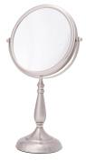 Danielle Enterprises 10X Magnification Vanity Mirror, Satin Nickel
