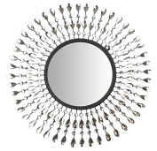 Lulu Decor, Pearl Drop Wall Mirror, Metal Wall Mirror, Frame Size 60cm , Perfect for Housewarming Gift.
