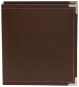 Simple Stories Faux Leather Binder, 15cm by 20cm , Brown