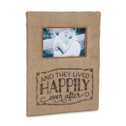 Happily Ever After 4x6 Burlap Photo Frame