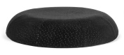 Aeris Donut Seat Cushion - Queen Size Memory Foam Seat Pad with Machine Washable Black Plush Velour Cover