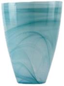 Shiraleah Turquoise Polished Alabaster Round Vase