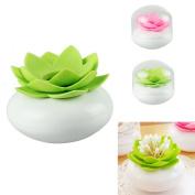 HP95(TM)Hot Chic Lotus Flower Cotton Bud Holder Toothpick Case Cotton Swab Box Vase Home Decor