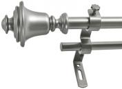 Montevilla 1.6cm Bell Double Window Treatment Rod Set, 86 to 330cm , Dark Nickel