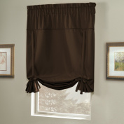 United Curtain Blackstone Blackout Tie Up Shade, 100cm by 160cm , Chocolate
