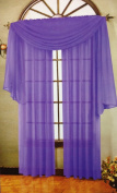 Beautiful Purple Elegance Window Sheer Voile Scarf 550cm