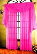 Elegance Window Sheer Voile Scarf 37 X 216