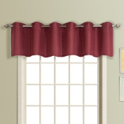 United Curtain Mansfield Woven Grommet Valance, 140cm by 46cm , Spice