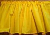 New 130cm wide x 38cm long Window Curtain UNLINED Valance made from Solid Bright Neon SUNSHINE YELLOW Cotton fabric