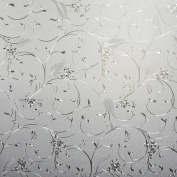 Beautiful Flower Decorative Privacy Window Film, Self Static Adhesive Cling, 90cm by 180cm