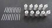 PLANTATION SHUTTER REPAIR KIT : 10 Tilt Rod Louvres Staples + PLUS + 10 Spring Loaded Shutter Pins