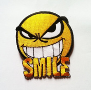 Smile patches Happy Face cartoon patches Embroidered iron/sew on Patch