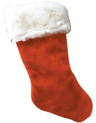 30cm Plush Red Christmas Stocking With White Fur Trim