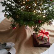 Firefly Imports Christmas Burlap Tree Skirt Under The Tree, 150cm