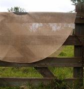 Firefly Imports Burlap Christmas Tree Skirt Round Sewn Edge, 150cm , Natural