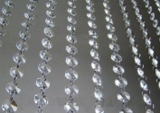 Clear Faux Crystal Beads Chain Garland by CrystalPlace