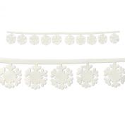 Beistle 20366 Fabric Snowflake Garlands, 0.9m