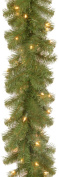 National Tree 2.7m by 25cm North Valley Spruce Garland with 50 Battery Operated Dual LED Lights