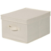 Household Essentials Large Storage Box, Natural Canvas