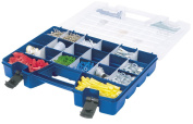 Akro-Mils 06118 Plastic Portable Hardware and Craft Parts Organiser, Large, Blue