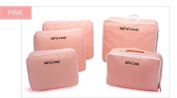 V-Share Bag in bag 5 pieces set travel packing cube in Pink