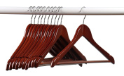 Home-it (24) Pack Solid Wood Clothes Hangers, Coat Hanger Light Cherry Wooden Hangers