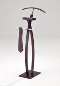 Kings Brand Furniture Modern Chrome / Walnut Finish Suit Rack Valet Stand