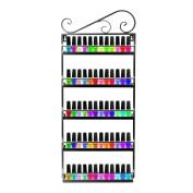 Dazone® Nail Polish Wall Mounted Rack Organiser Holds 50 Bottles Nail Polish Shelf