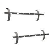 Proslat 11007 Magnetic Tool Holder Designed for Proslat PVC Slatwall, 2-Pack