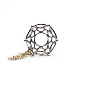 Novobeads Dreamcatcher, Silver with 14K Gold Silver & 14K Gold Charm Bead