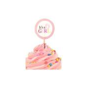 Wilton 2113-0857 Wilton Cupcake Picks, Baby Girl, It's a Girl, 24-Pack