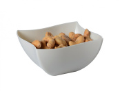 Fineline Settings 4-Piece Wavetrends Bone China-Like Square Serving Bowl, 470ml