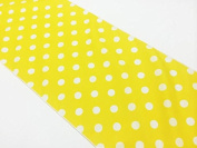 ArtOFabric Our Decorative Polka Dot Cotton Table Runner in 30cm x 180cm -Yellow