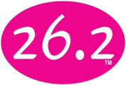 26.2 Pink Oval Magnet - 10cm x 15cm - 35 Mil thick.