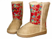 Kids Novelty Dora The Explorer Hearts Snugg Boot Shoe