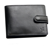 STARHIDE MENS GENTS ITALIAN VEG TAN LUXURY LEATHER WALLET FOR BANKNOTES, CREDIT CARDS, COINS & PHOTO - 1213