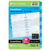 DayTimer Coastlines Desk-Size Weekly Refill 2016, 14cm x 22cm