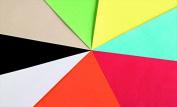 School Smart Folding Bristol Tagboard - 9 x 12 - Pack of 100 - Black