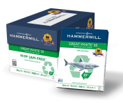 Hammermill Great 50% Recycled Copy Paper, 9.1kg, 22cm x 28cm , 92 Bright, 5000 Sheets/10 Ream Case